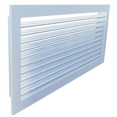 Aluminium Gitter für Wandeinbau mit starren Lamellen für Abluft