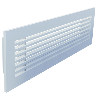 Aluminium bar grille for wall mounting