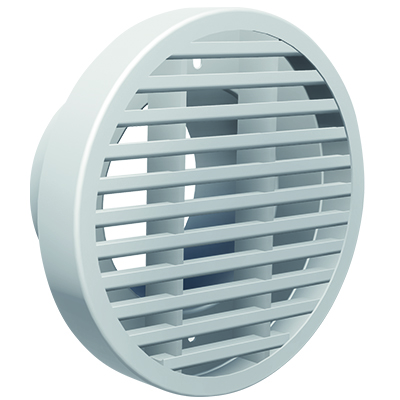 Aluminium round grille with bars